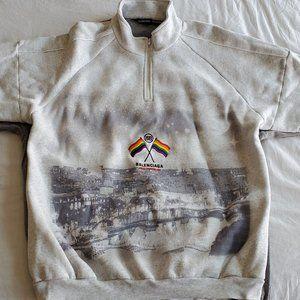 BALENCIAGA Embroidered cotton-blend sweatshirt